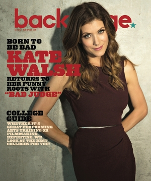 Kate Walsh Backstage Cover. Photo by James Hickey.