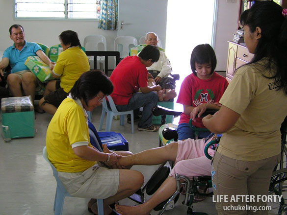 Patient receiving treatment at the centre.