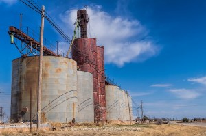 Abandoned Grain Elevator and Silos in Megargel, Texas