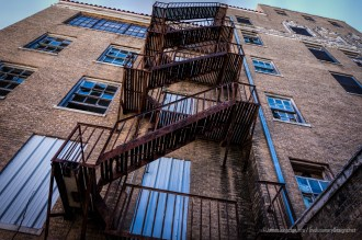 Abandon Nazareth Hospital in Mineral Wells - Rusty Fire Escape