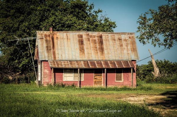 Abandoned Pink Farm house on FM 677