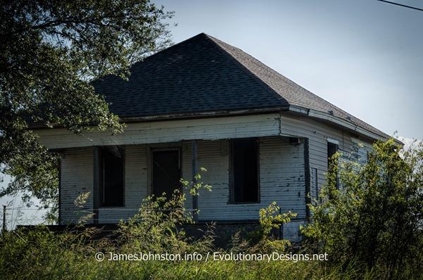 Abandoned Farmhouse West of  Sherman, Texas