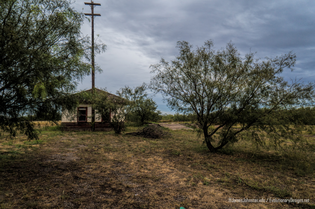 The Abandoned Santa Fe Rail Depo in Hamlin, Texas