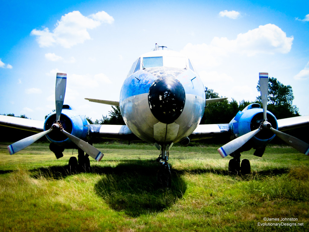Abandoned 404 Martin Passenger Plane - Front View