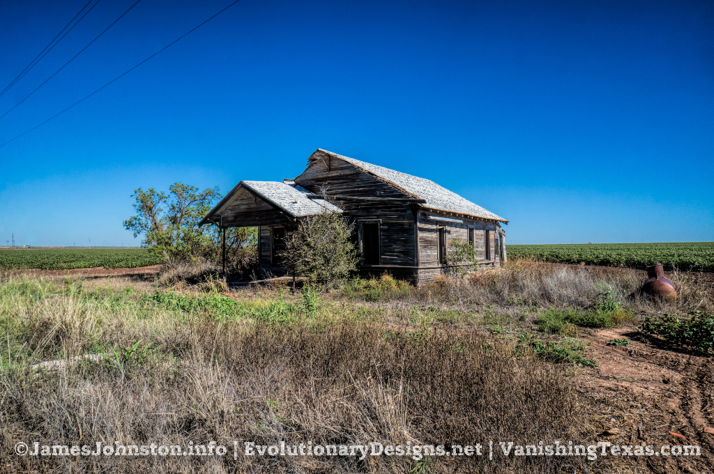 Abandoned Farm House South of Stamford, Texas - Shot from the Highway