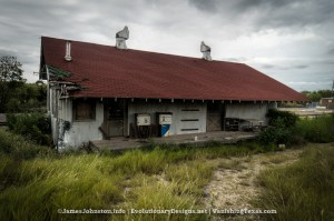 The Abandoned Texaco Building in Bowie, Texas