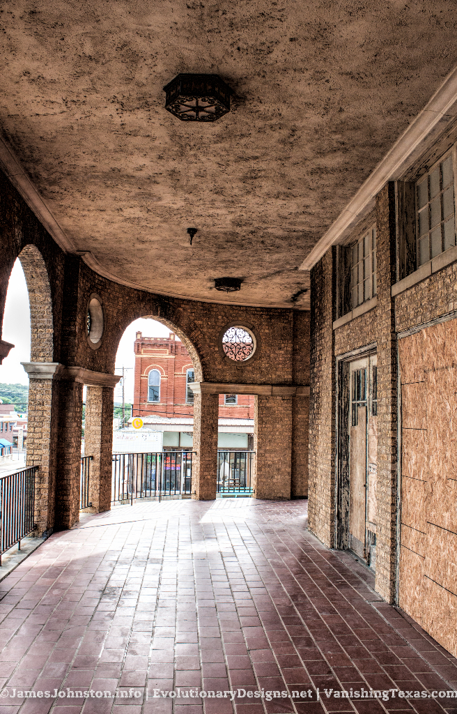 The Second Floor  Balcony - The Abandoned Baker Hotel in Mineral Wells, Texas