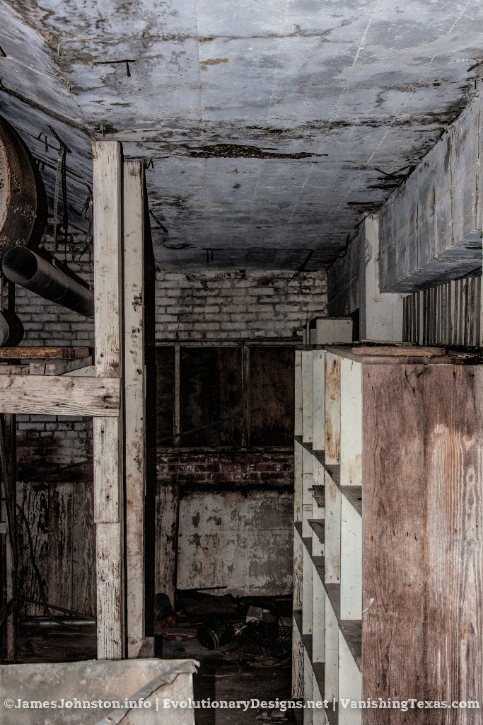 Creepy room under the stairs - The Abandoned Baker Hotel in Mineral Wells, Texas