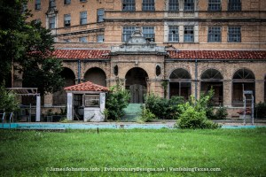 Pool Side - The Abandoned Baker Hotel in Mineral Wells, Texas