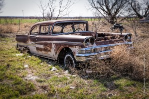 Random Picture of the Week #23: Abandoned 1957 – 1959 Ford Fairlane Coupe Found in Megargel, Texas