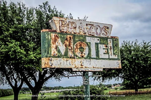Brazos Motel in Granbury, Texas (Demolished)