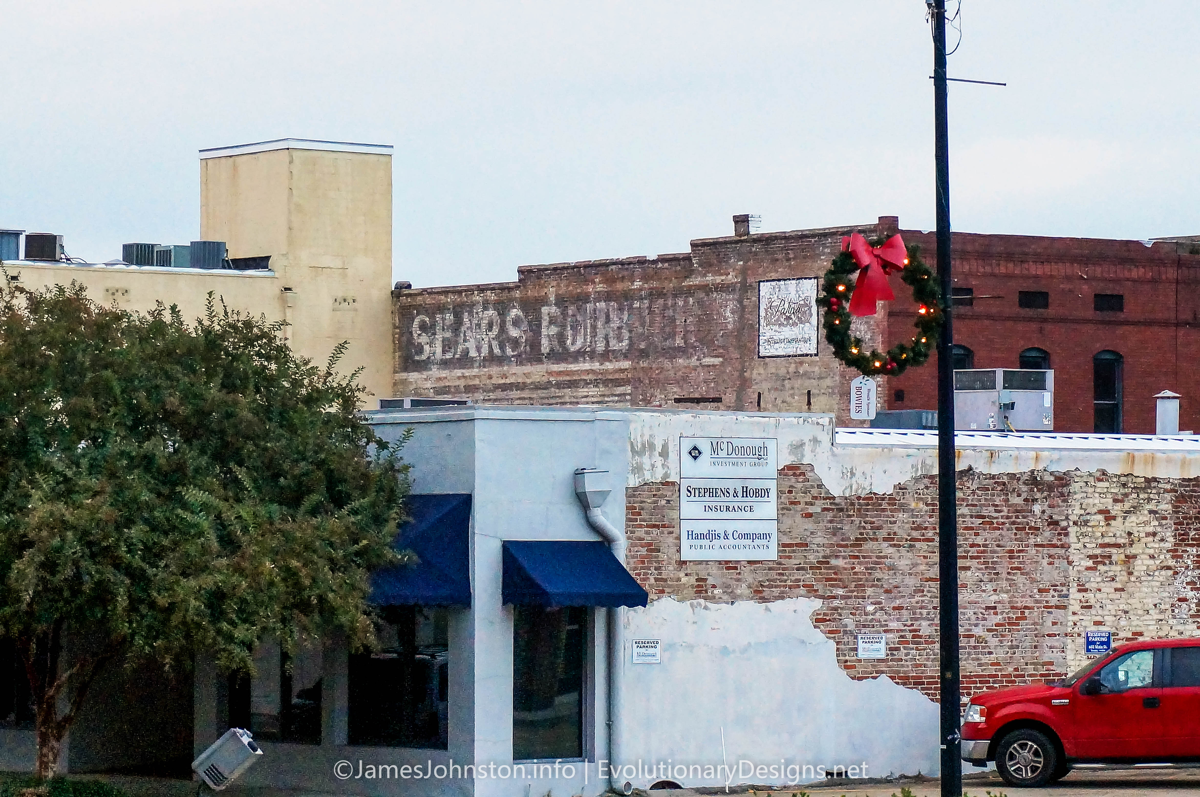 Sears Brothers Ghost Signs in Natchez, Mississippi
