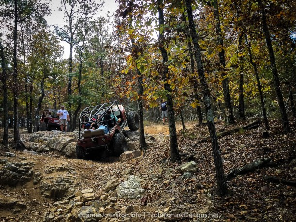 A Weekend at Hot Springs Off Road Park - Attack the first group of rocks on a trial