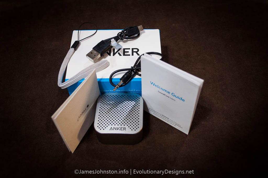 Anker SoundCore Nano Bluetooth Speaker - unboxed