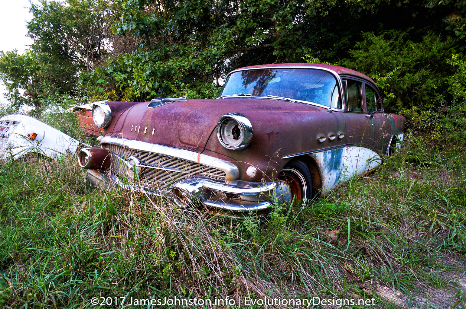 Old Abandoned Buick Near Kimberling, Missouri