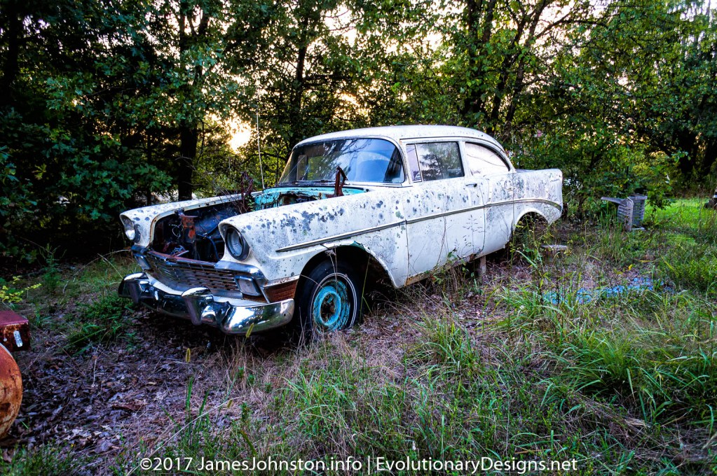 Old Abandoned Chevrolet Bel Air near Kimberling, Missouri