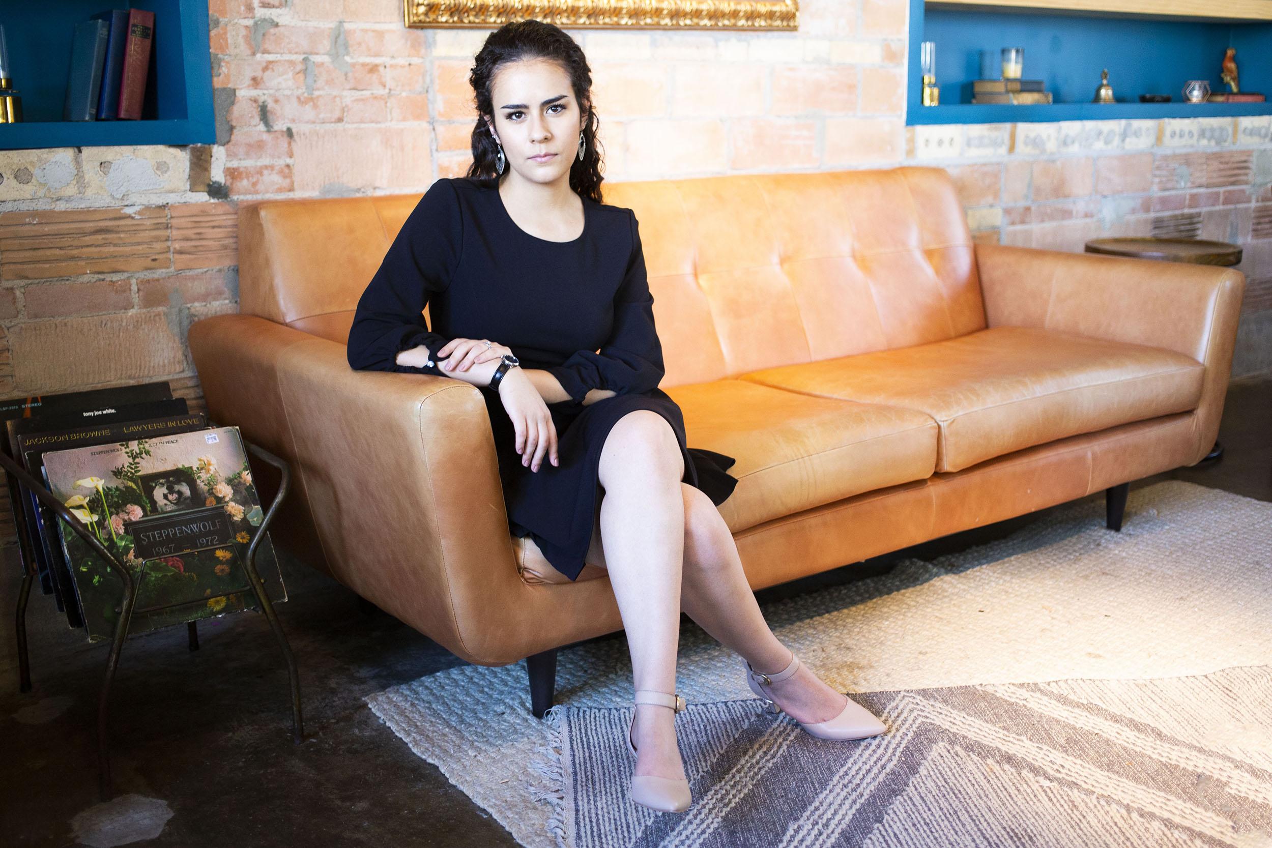 portrait megan in lounge