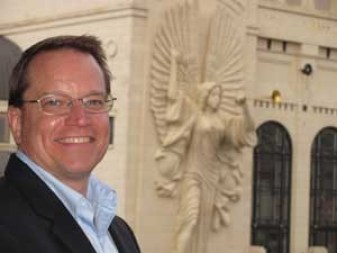 James J Warchol - Author - Angel Statue in background