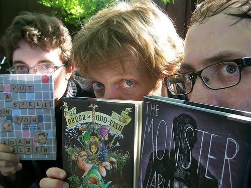 Brothers Delacorte with Books