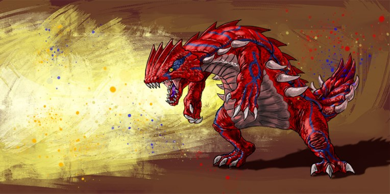 Here is my version of Groudon