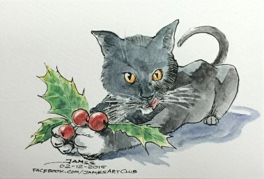 Mistletoe Kitty