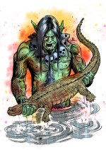 """Shā Wùjìng (literally meaning """"Sand Awakened to Purity""""), given the name Friar Sand or Sandy. A river monster."""