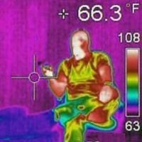 Thermal Image Of Targeted Individual