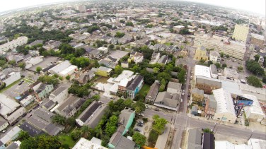 Looking North towards St. Charles Street in the Lower Garden District.