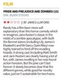 Pride Prejudice Zombies