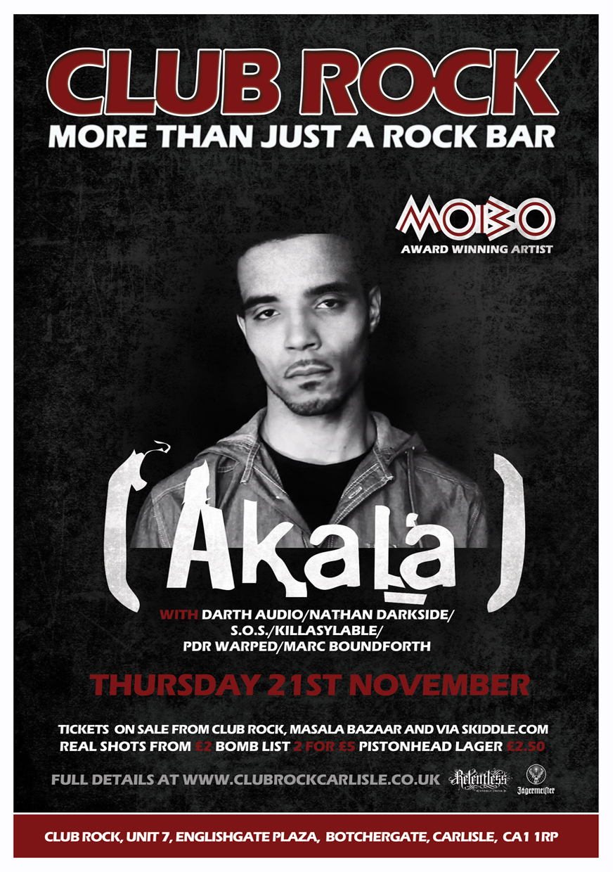 Club Rock - Akala Flyer