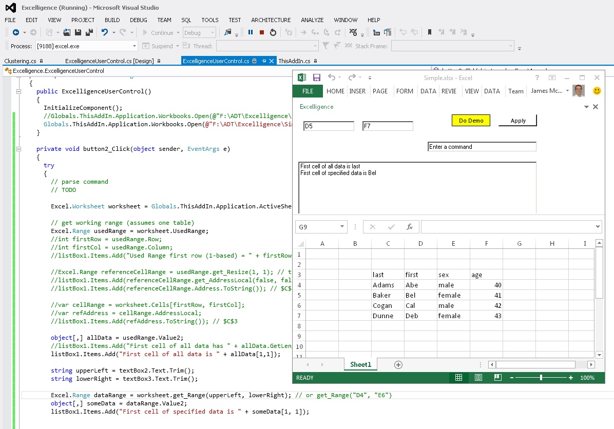 Getting Data Into Memory With Excel Add In Interop