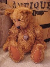 Roary- Cinnamon Curly Mohair Bear with Wobble Joints