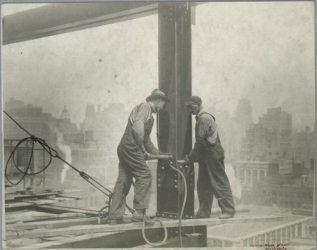 Vintage Construction Site Empire State Building 1