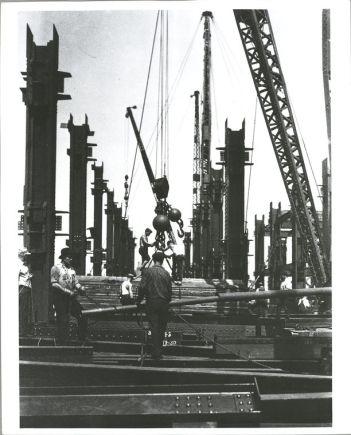 Vintage Construction Site Empire State Building 12