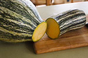 Cushaw Squash, Sliced To Show Interior