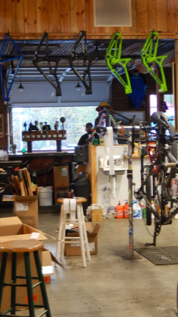 view from the wrenching area