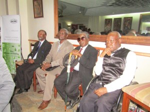 Dyson Gonthi, Dr James Ng'ombe, Dr. D.D. Phiri and the author, Mr Alfred Msadala,
