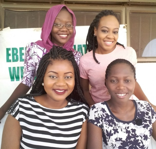 Front Row; Blessing Christopher and Funke Awofeso Back Row: Farida Adamu and Mariam Sule
