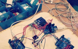 Early prototype using NFC readers and Arduino microprocessor
