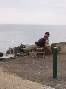 Relaxed fisherman