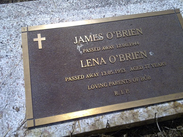 James O'Brien and Lena Noonan