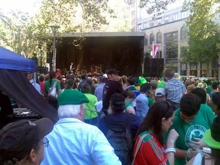 Irish crowd