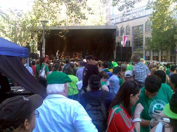 Irish crowd