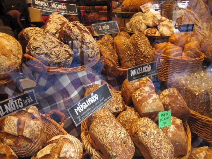 Bread in window of shop near Skanstull