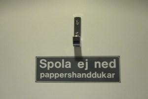 Do not flush paper towels