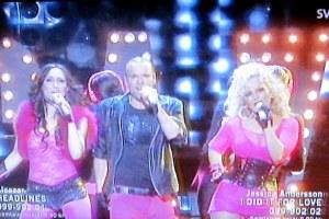 Alcazar perform on Melodifestivalen