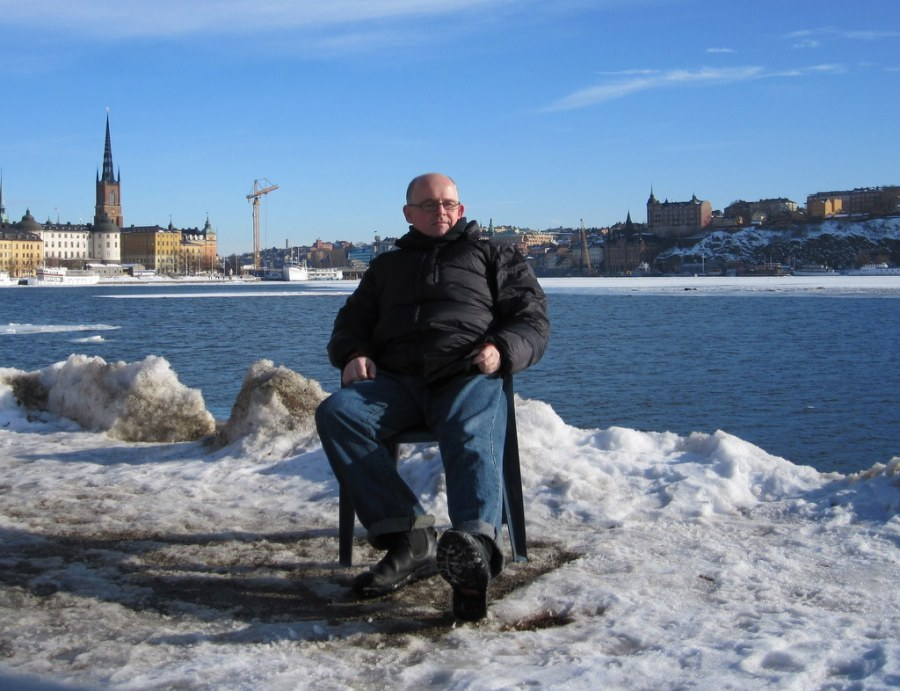 A fine spot to relax near the Stockholm city hall