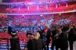 People taking their seats