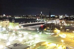 Stockholm at night, viewed from Katarinahissen