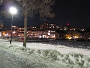 Looking towards Sodermalm from near Gamla Stan t-bana